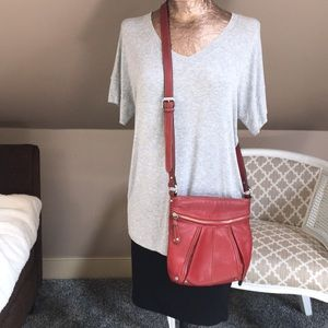 Tignanello Red Crossbody Shoulder Bag